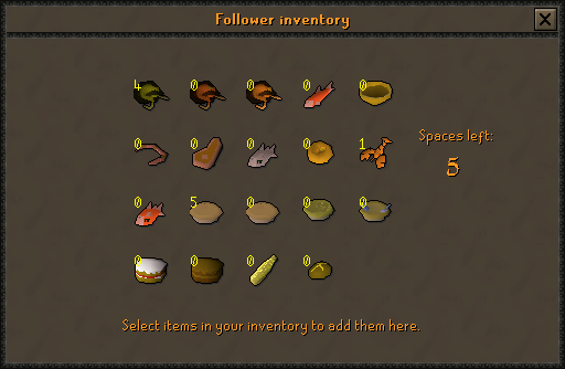 The Follower Inventory