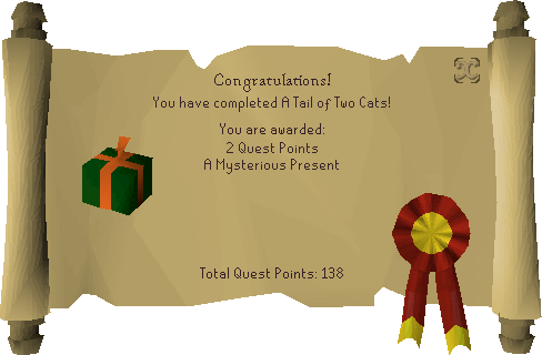 A Tail of Two Cats reward scroll.png