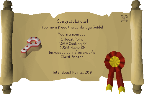 Recipe for Disaster (Freeing the Lumbridge Guide) reward scroll.png