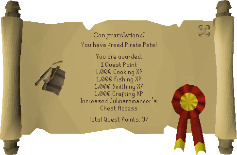 Recipe for Disaster (Freeing Pirate Pete) reward scroll.png