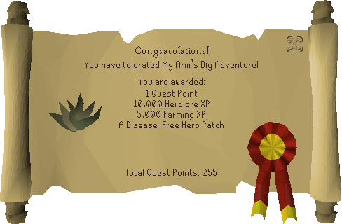 My Arm's Big Adventure reward scroll.png