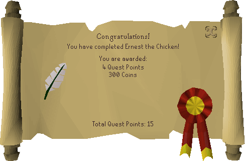 Ernest the Chicken reward scroll.png
