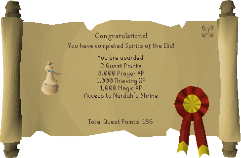 Spirits of the Elid reward scroll.png