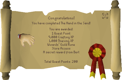 The Hand in the Sand reward scroll.png