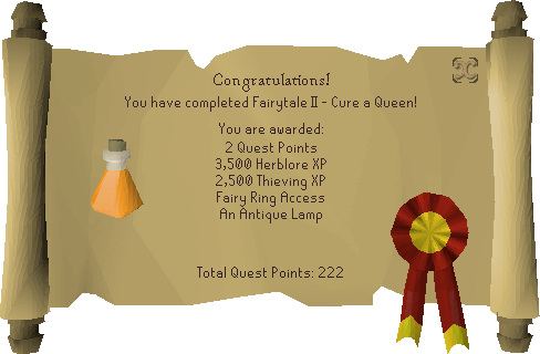 Fairytale II - Cure a Queen reward scroll.png