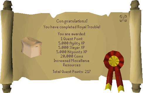 Royal Trouble reward scroll.png