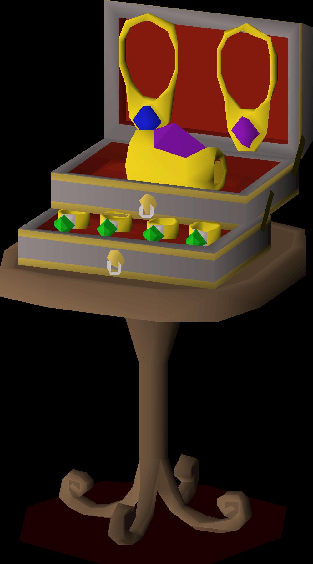 100/_2678 Fancy JewelryValetKeepsake Box #7