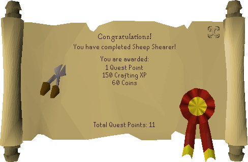 Sheep Shearer reward scroll.png