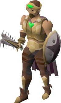A player wearing the easy diary set