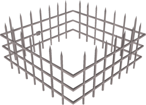 Steel cage (Oubliette) built.png