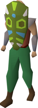 Tribal mask (green) equipped.png
