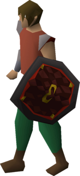 Zamorak d'hide shield equipped.png