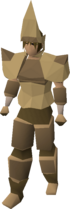 A player wearing Splitbark armour.