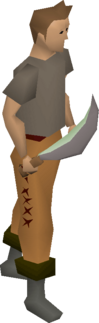 Jade machete equipped.png