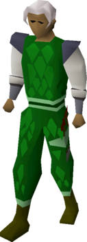 A player wearing a Green dragonhide body (t)