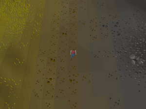 Hot cold clue - east of wilderness canoe exit.png
