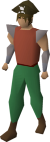 A player wearing a pirate's hat