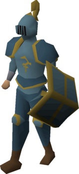 A player wearing Bandos platelegs.