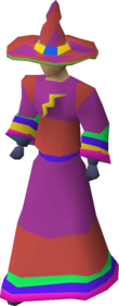 A player wearing an Infinity hat.