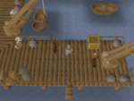 Emote clue - cheer monks port sarim.png