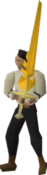 Saradomin's blessed sword equipped.png