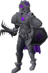 A player wearing the elite diary set