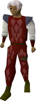Red Dragonhide Body Equipped