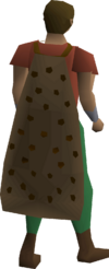 A player wearing a spotted cape