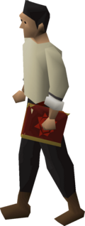 A player wielding a Mages' book.