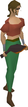 A player wielding the toktz-xil-ek