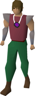 A player wearing an amulet of eternal glory