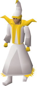 A player wearing light mystic robes.