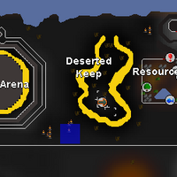Hot cold clue - SW of Deserted Keep map.png