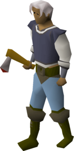 Steel axe equipped.png