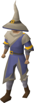 A player wearing Ancestral robes.
