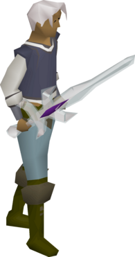 A player wielding Arclight.
