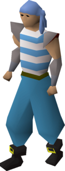 Pirate clothing (blue) equipped.png