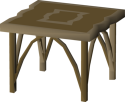 Teak table (small, Mahogany Homes) built.png