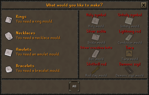 Update:Smithing and Silver Crafting Interfaces - OSRS Wiki