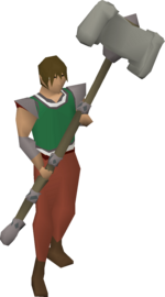 Granite maul (ornate handle) equipped.png