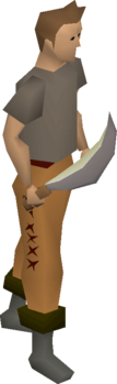 Opal machete equipped.png