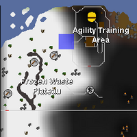 Hot cold clue - south of Wilderness Agility Course map.png