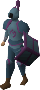 A player wearing Ancient platelegs