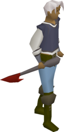 A player wielding a dragon harpoon.