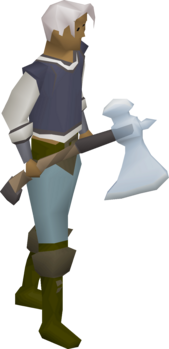 Crystal axe (The Gauntlet) equipped.png