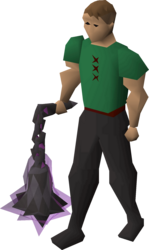 Viggora's chainmace equipped.png