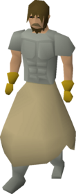 A player wearing the penance skirt