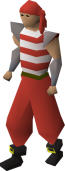 Pirate clothing (red) equipped.png