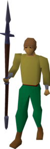 Mithril hasta equipped.png