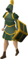 Adamant gold-trimmed set (sk) equipped.png